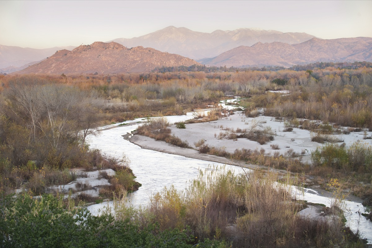 The santa ana boom california for Santa ana river lakes fishing
