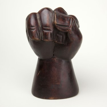 Unknown maker, Untitled (Clenched Fist), circa 1965. Collection of the Oakland Museum of California.
