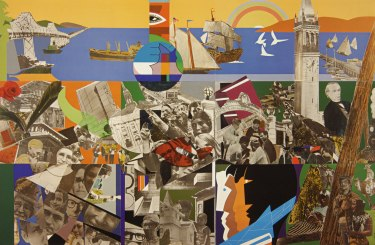 Berkeley—The City and its People by Romare Bearden. © Romare Bearden Foundation/Licensed by VAGA, New York, NY.