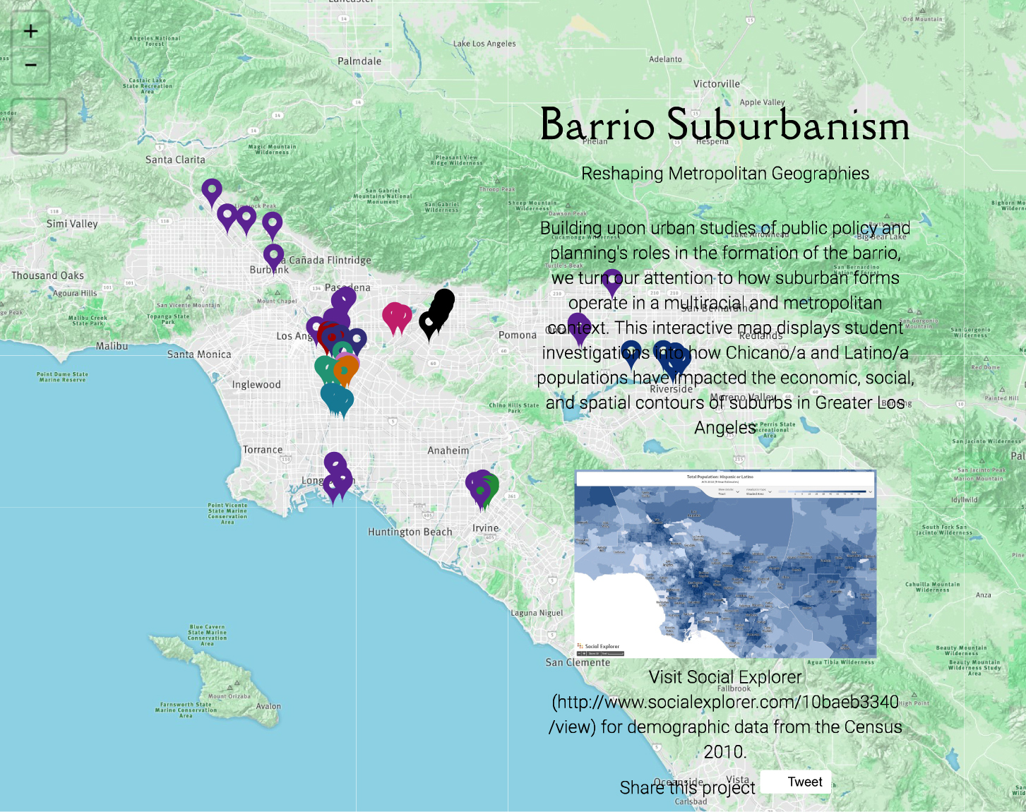 Mapping LAtinx Suburbia Boom California