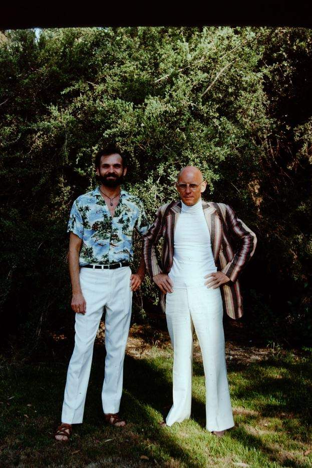 Foucault and Simeon Wade, Claremont, after the Death Valley experience.