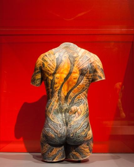 Tattooed silicone torso, USA, 2016, Silicone, Guy Aitchison (b. 1968)