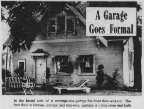 Los Angeles Times profiles of garage conversions during and after World War II celebrated the resourcefulness of homeowners who created these informal housing units. They were praised as patriots performing an important duty by helping alleviate the housing shortage. Los Angeles Times, 2 September 1945..